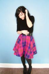 Completed: Giant Plaid Circle Skirt