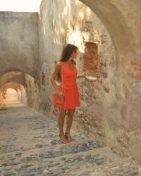See You Soon Coral Dress At The Citadel Robe Corail See U Soon A La Citadelle Sur Mode 2000