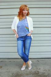 White Blazer & Graphic Tee: Fashion Regret
