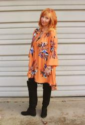 Print Tunic Dress & OTK Boots: Stealth Pounds