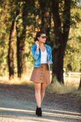 Why You Need a Faux Suede Skirt This Fall