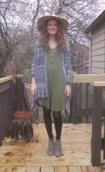 Fall Hat and Olive Tunic