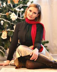Something red NYE outfit (Una fashion blogger sotto l'albero)