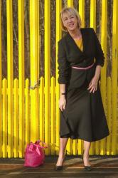 Black skirt suit by Max Mara