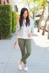 Olive Jeans in the Spring + LAST DAY for Giveaway!