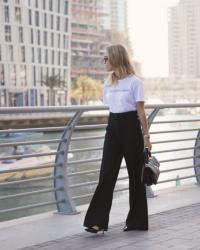How To Wear Wide Leg Trousers Now