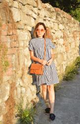 Outfit | Sun kissed in gingham dress