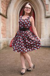 Skulls and roses dress