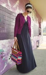 Adding interest with accessories | Maxidress + cardigan combo