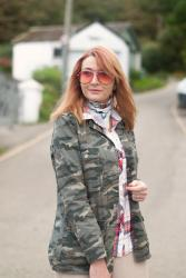 Camo & Plaid Pattern Mix Autumnal Outfit #iwillwearwhatilike