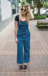 Culotte Denim Jumpsuit.