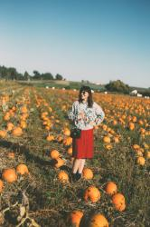 Surrounded by Pumpkins
