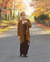 Chenille Cardigan & Burnout Velvet Cami: Beautiful Diversity