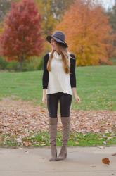 Almost Leather Leggings + Hello Monday Linkup
