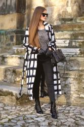 LONG CHECKED COAT & SHOPBOP BIG SALE!