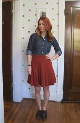 Completed: Wool Crepe Mirambell Skirt
