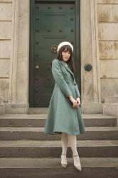 Teal Fit and Flare Coat