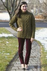 {outfit} Chunky Cable Knit Sweater