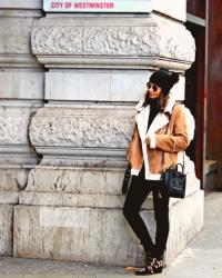 CARAMEL  Sheepskin  Coat