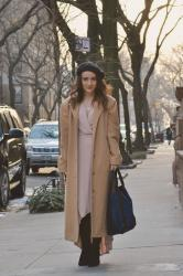 A Blush Wrap Dress and Thoughts on NYFW Street Style