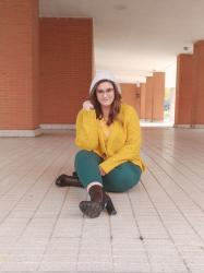 Yellow & Green ~ Outfit curvy Plus size woman