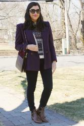 {outfit} Embellished Sweater with Blazer