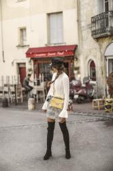 Fila Disruptor & long manteau JUNE Sixty Five Blog Mode