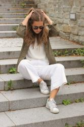 outfit – those white jeans culottes