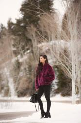 A Cute & Chic Fur Coat Outfit for Winter