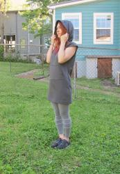 Completed: French Terry Stella Hoodie Dress