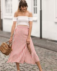 Summer outfit idea : stripes