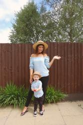 MATCHING MUMMY AND SON OUTFIT