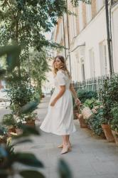 The White Button Down Dress