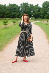 How to Style a Summer Shirt Dress (With Pattern Mixing) #iwillwearwhatilike