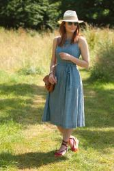 A Lightweight Chambray Dress Perfect for Summer #iwillwearwhatilike