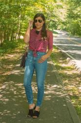 {outfit} How to Wear High Waisted Jeans in Summer