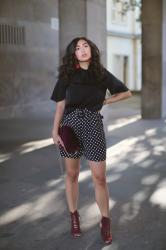 Styling Dotted Print Shorts