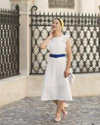 The White Midi Dress