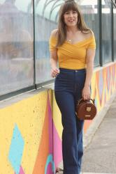 Mustard Crop Top for Fall