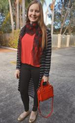 Basic Tees, Prints, Black Jeans and Metallic Flats with Rebecca Minkoff Bags