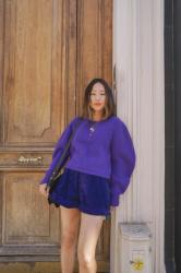 A Casual Chic Purple Look for Isabel Marant