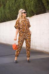 Anthropologie Leopard Trouser Set