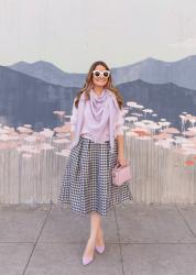 Styling a Houndstooth Midi Skirt