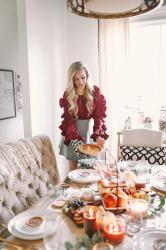 The Perfect Thanksgiving Tablescape + Holiday Hosting Tips