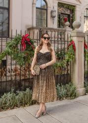 An Ombre Sequin Midi Dress for the Holidays