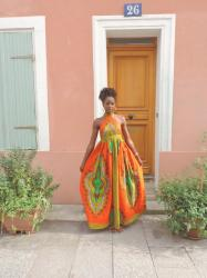 Ma maxi-robe Dashiki orange