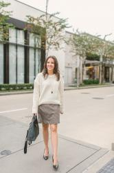 Winter Workwear: Oversized Sweater + Plaid Skirt