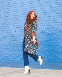 Wear It Again: Layer Your Wrap Dress Over Jeans