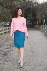 Color Crush: Pink and Teal Outfit