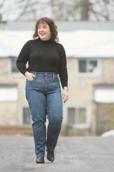Everlane Jeans Review by a Curvy Size 12/14 Petite Woman